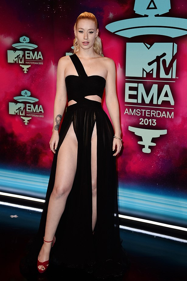 Iggy Azalea certainly isn't afraid of some leg. Or a lot of leg.