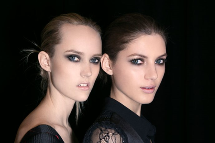"""<strong>Smokey eyes start at the base </strong> <br> <br> Properly priming the eyelid doesn't just make eye shadow last longer or the pigments punchier, it makes for easier blending too. <br> <br> <em>""""Eye shadow can drag on an oily eyelid, so priming or powdering first is essential,""""</em> says Morris. <em>""""Primers are great, I like <a href=""""http://shop.davidjones.com.au/djs/ProductDisplay?catalogId=10051&productId=17124&langId=-1&storeId=10051&cm_mmc=googlesem-_-PLA-_-Health+and+Beauty+-+Personal+Care-_-Laura+Mercier+Eye+Basics&CAWELAID=620017140000985654&CAGPSPN=pla&gclid=Cj0KEQjw_rytBRDVhZeQrbzn_q0BEiQAjnbSHNyNC12Y3NPDbLzkoIO2hw8ip57Qdxoa0ZsQn1mtRkYaAtMV8P8HAQ&gclsrc=aw.ds"""">Laura Mercier</a>, <a href=""""http://mecca.com.au/nars/smudge-proof-eyeshadow-base/I-007548.html#q=primer+nars&start=1"""">NARS </a>or <a href=""""http://www.maccosmetics.com.au/product/13780/33821/Prep-Prime/Eyes/Prep-Prime-24-Hour-Extend-Eye-Base"""">MAC</a>, but at the end of the day, translucent powder* works fine too and it's what all the pro's do. Just watch out for HD powders as they are often silicone based, which can make lids sticky.""""</em> <br> <br> <em>*Morris says <a href=""""http://www.amazon.com/Corn-Silk-Translucent-Powder-Original/dp/B001AV5WOC"""">this </a>powder is a secret pro fave. </em>"""