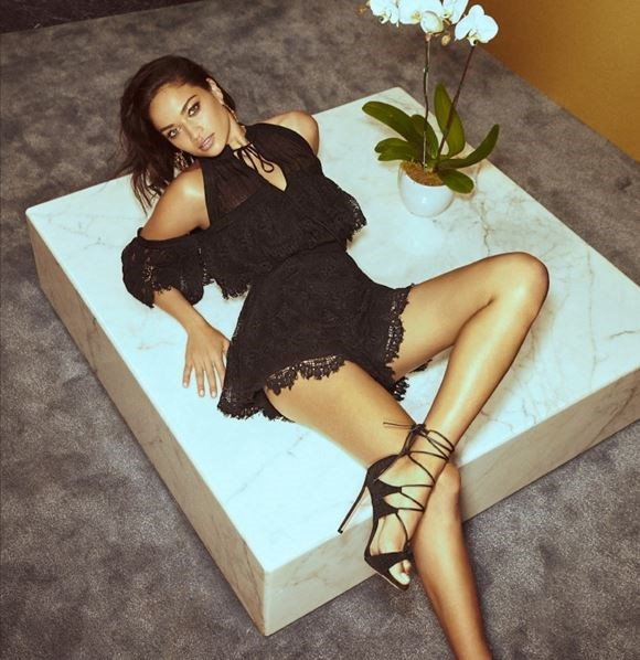 Shanina Shaik wearing Alice McCall's 'Better Be Good To Me' playsuit