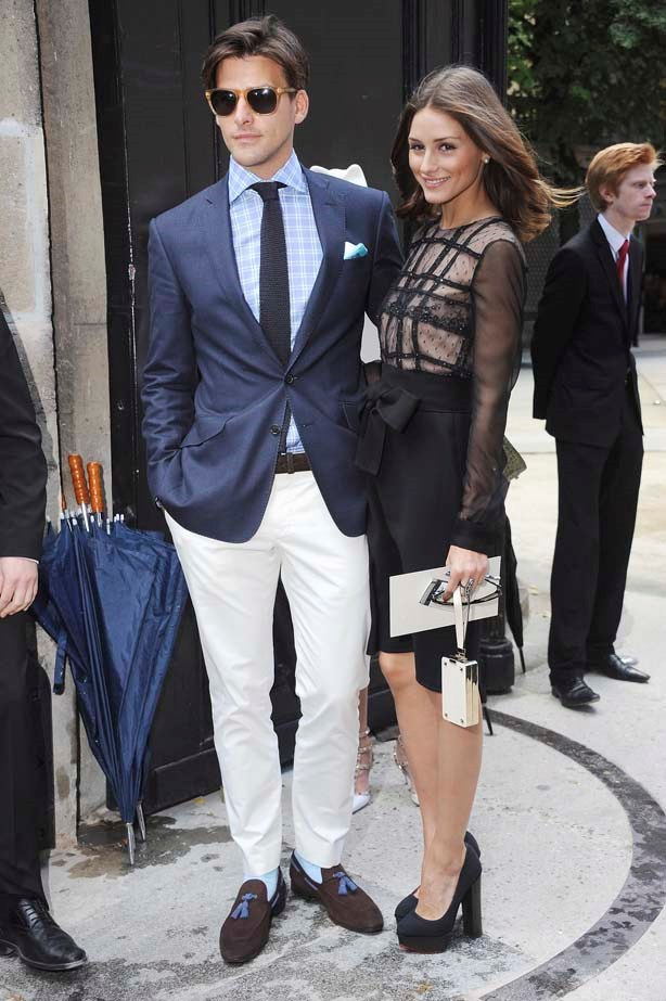 <p>July 06, 2011</p> <p>Olivia Palermo with her now husband Johannes Huebl at the Valentino Haute Couture AW11 show.</p>