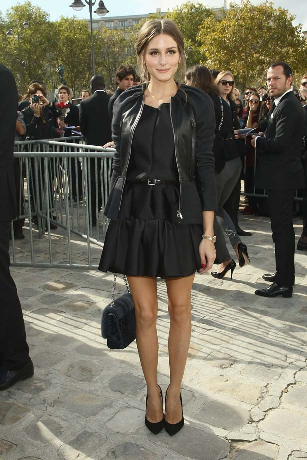 <p>September 28, 2012</p> <p>Olivia Palermo attends the Christian Dior SS13 show as part of Paris Fashion Week.</p>