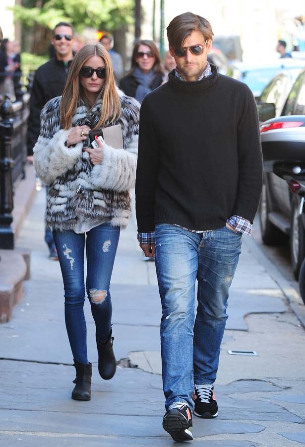 <p>April 14, 2013</p> <p>Olivia Palermo and Johannes Huebl are seen in the West Village in New York City.</p>