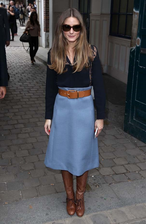 <p>September 29, 2013</p> <p>Olivia Palermo attends the Chloe show at Lycee Carnot in Paris.</p>