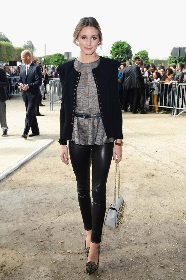<p>September 30, 2013</p> <p>Olivia Palermo attends the Elie Saab show as part of the Paris Fashion Week Womenswear SS14.</p>