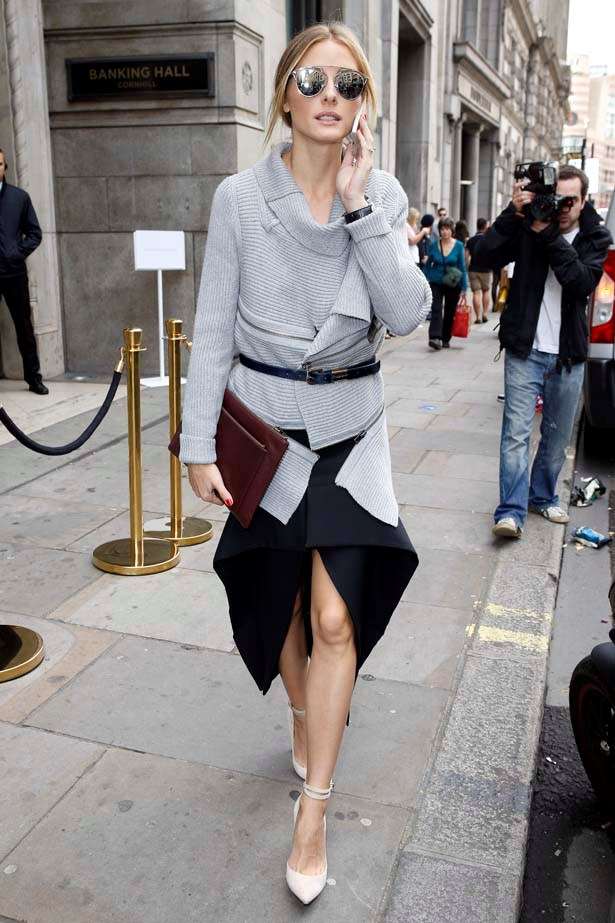 <p>September 13, 2014</p> <p>Olivia Palermo seen leaving the Banking Hall to attend the Emilia Wickstead show in London.</p>