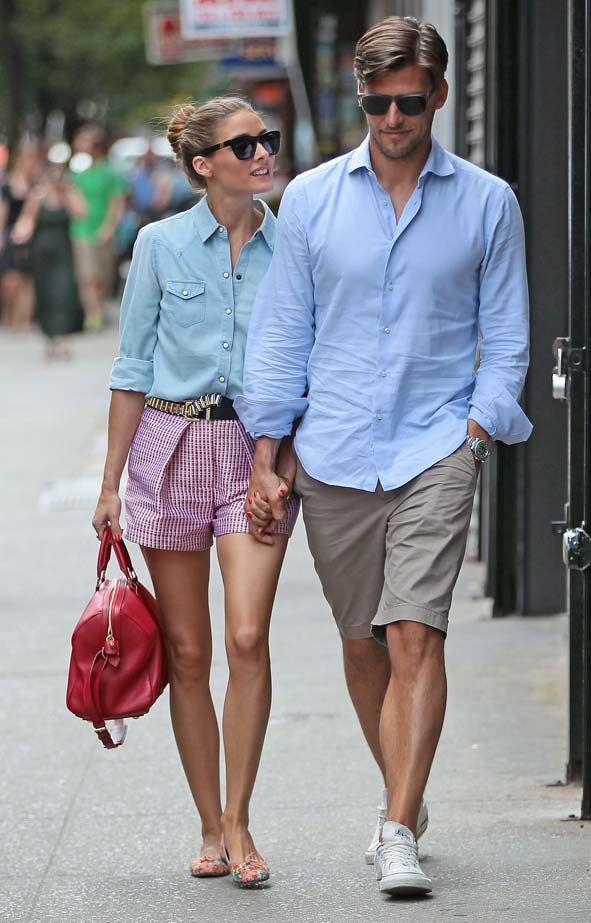 <p>July 24, 2013</p> <p>Olivia Palermo and husband Johannes Huebl are seen in New York City.</p>