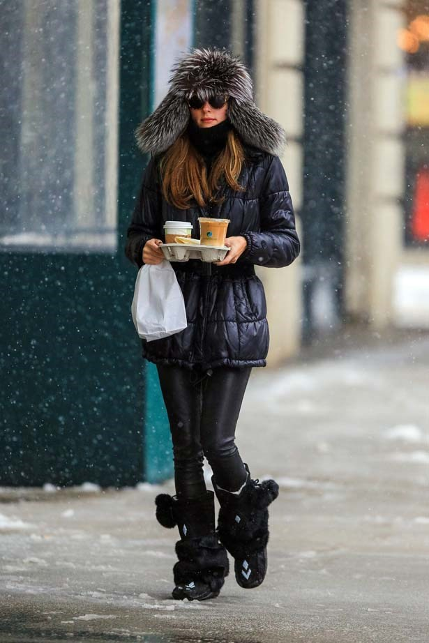 <p>February 03, 2014</p> <p>Olivia Palermo is seen out on a coffee run in Brooklyn.</p>