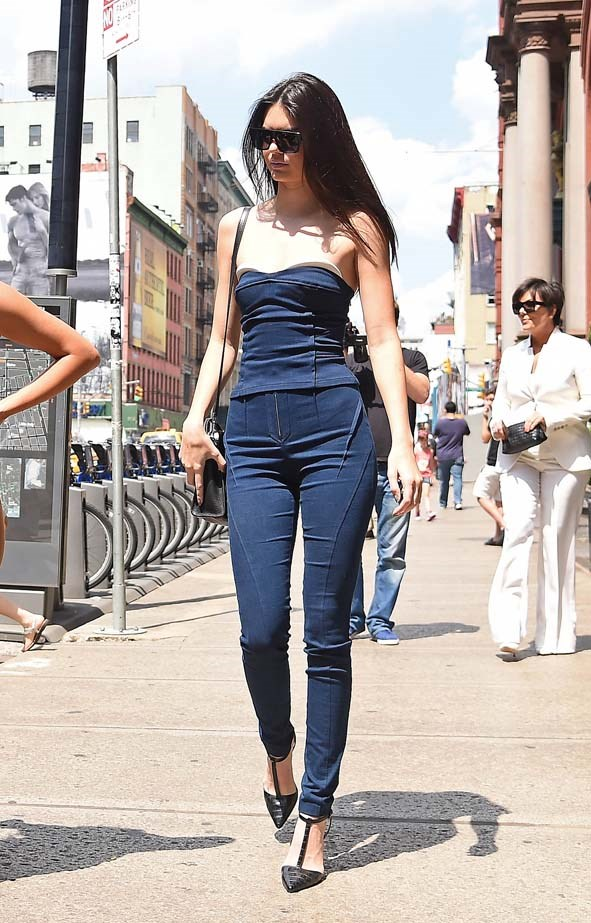 <p>June 27, 2014</p> <p> Kendall Jenner pictured in New York.</p>