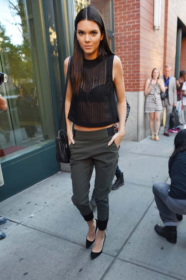 <p>August 28, 2014</p> <p>Kendall Jenner out and about in New York.</p>
