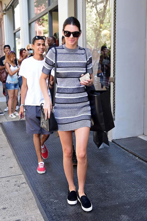<p>September 03, 2014</p> <p>Kendall Jenner pictured walking in New York City.</p>