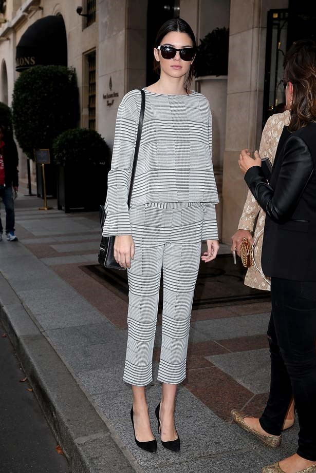 <p>September 24, 2014</p> <p>Kendall Jenner is sighted as she goes for lunch in Paris.</p>