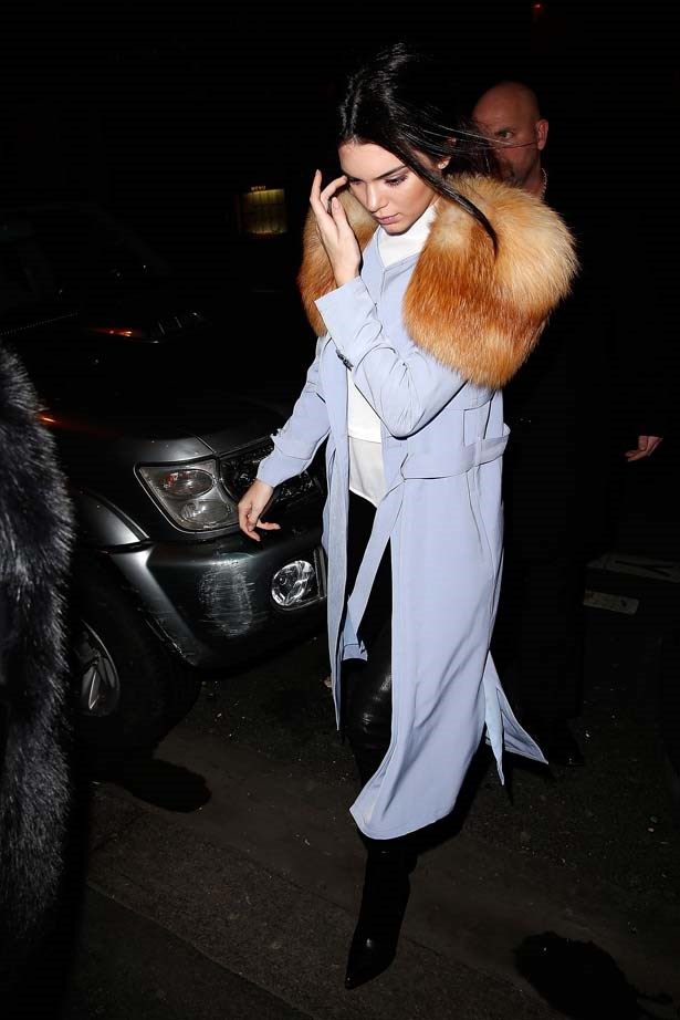 <p>January 25, 2015</p> <p>Kendall Jenner out for dinner in Paris.</p>