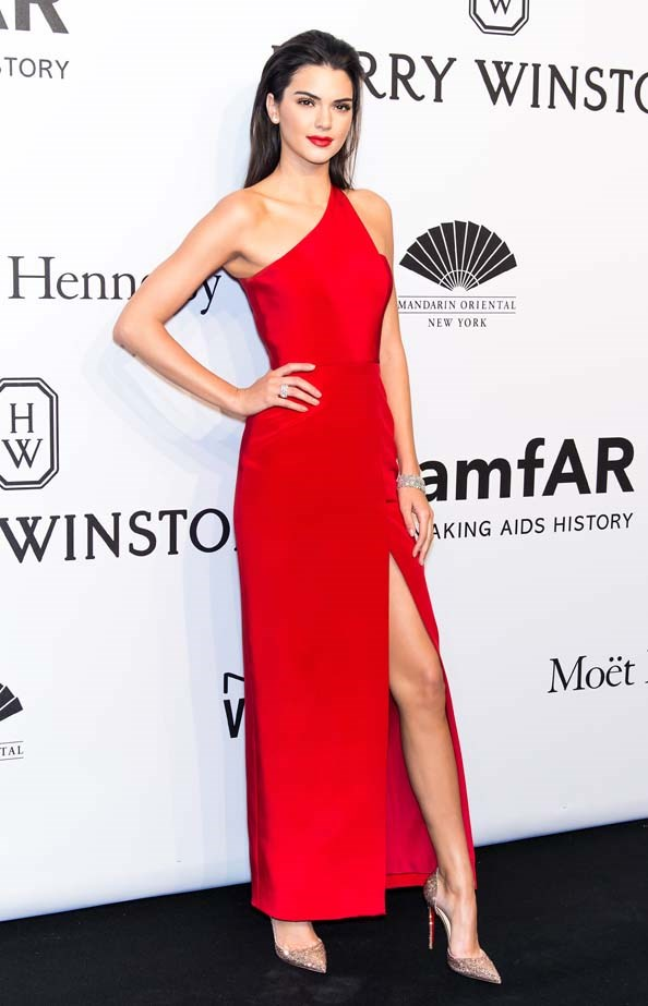 <p>February 11, 2015</p> <p>Model Kendall Jenner attends the 2015 amfAR New York Gala at Cipriani Wall Street in New York.</p>