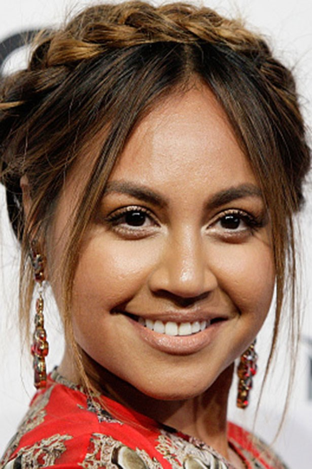 <strong>Jessica Mauboy</strong> <br> <br> <em>Crown braid and bronze eyes</em>
