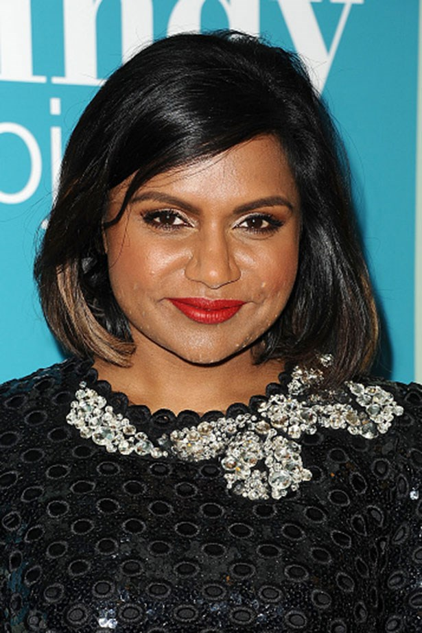 <strong>Mindy Kaling</strong> <br> <br> <em>Chic bob and brick-red lips</em>