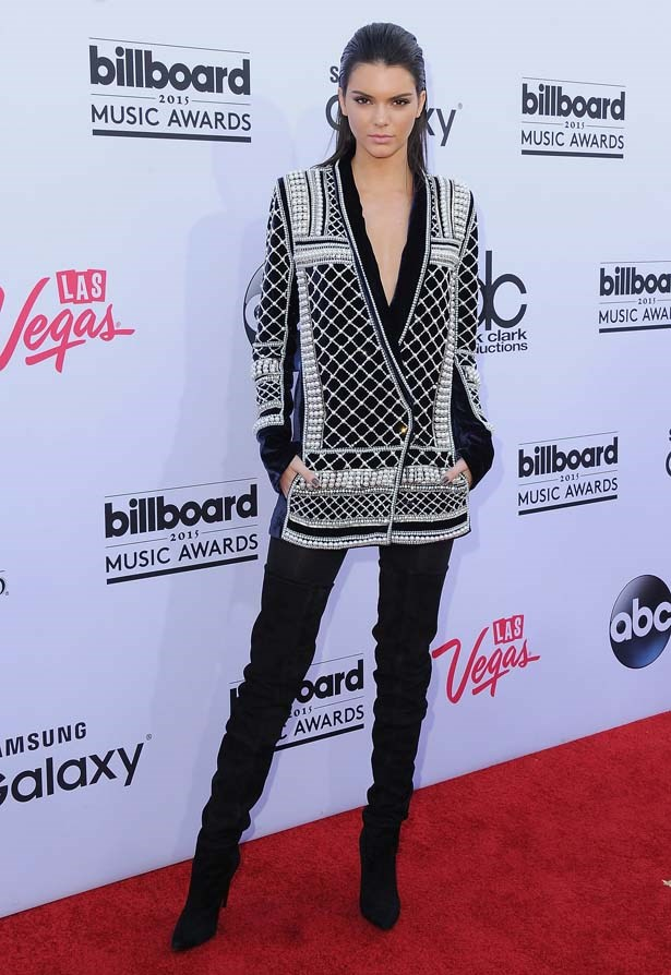 <p>May 17, 2015</p> <p>Kendall Jenner arrives at the 2015 Billboard Music Awards in Las Vegas.</p>