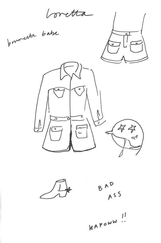 Extracts from inside Alexa Chung's design journal for AG Jeans.