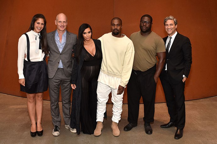Kim goes for a sheer jumpsuit for the LACMA Director's Conversation With Steve McQueen, Kanye West, And Michael Govan About 'All Day/I Feel Like That' event in July.