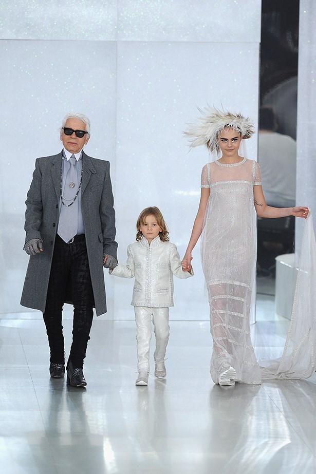 Hudson at Chanel last year.