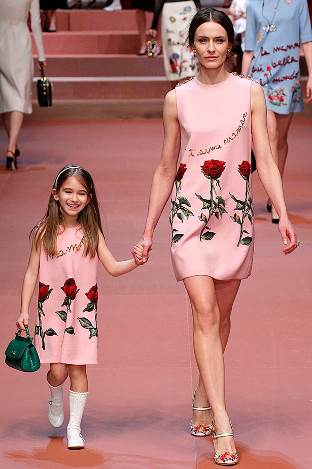 Dolce and Gabbana's latest womenswear collection celebrated mammas - and little ones, too.