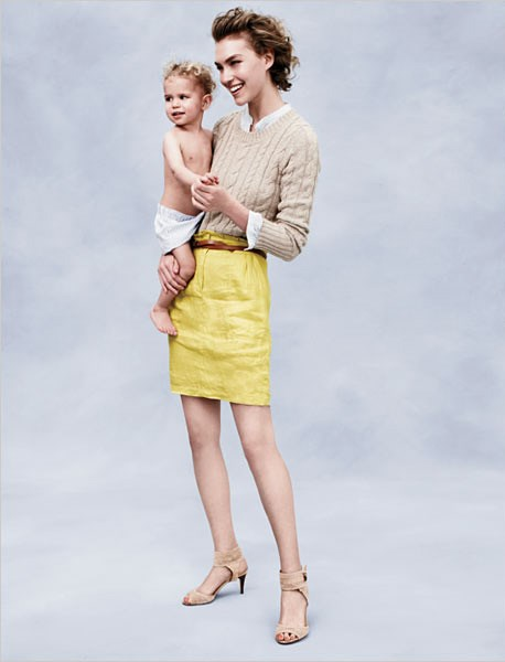Arizona Muse's son, Nikko, pretty much kick started her career - and he's cute, too. Here they are featured in the JCrew catalogue together.