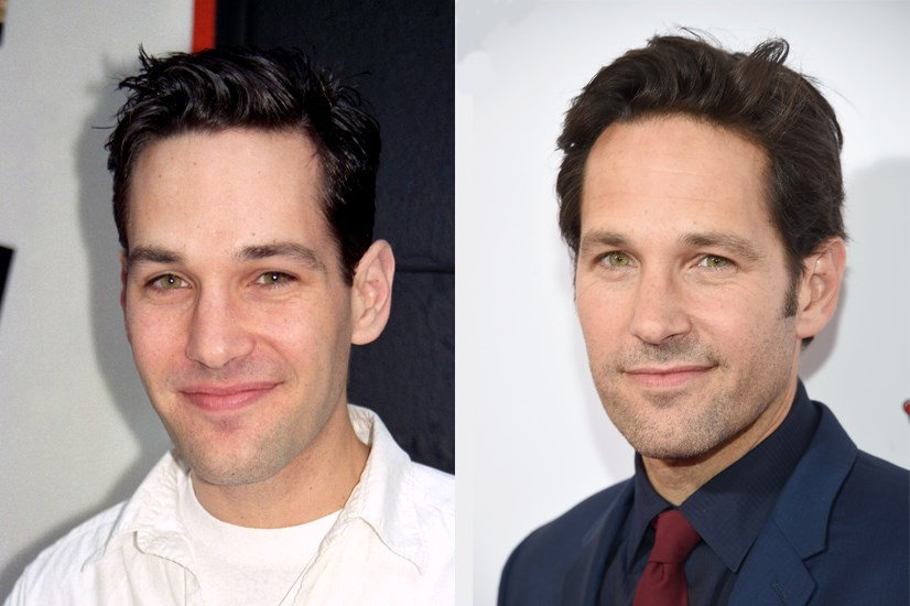 Paul Rudd, 1997 and 2015.