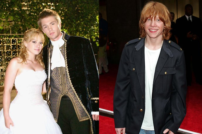 A CINDERELLA STORY - And Rupert Grint was offered the part of Austin in A Cinderella Story. Sadly, he was contracted to Harry Potter.