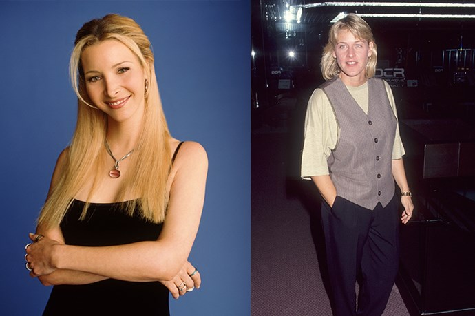 FRIENDS - Whaaat? Phoene Buffay was originally going to be played by a weirdly long-haired Ellen DeGeneres.