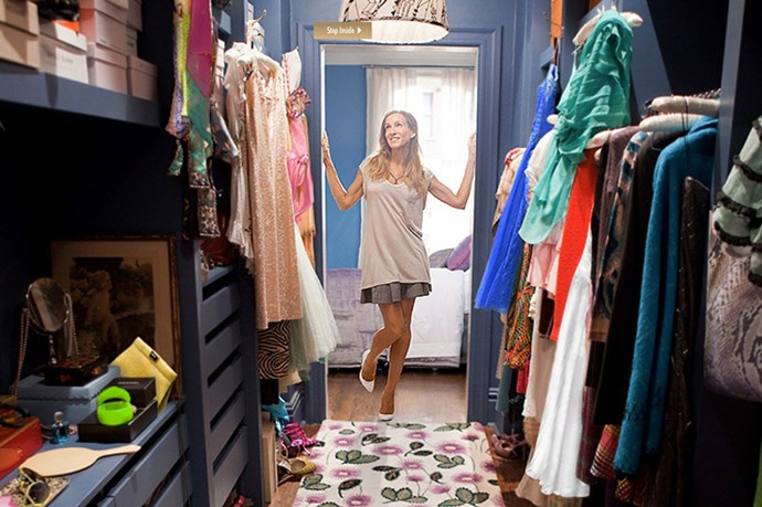 SEX AND THE CITY - Considering Carrie makes a lowly $2,000 a month writing her column, her shopping addiction is pretty unbelievable. Vanity Fair worked out that one of the outfits worn by Carrie in an episode cost more than $232,480. Yep.