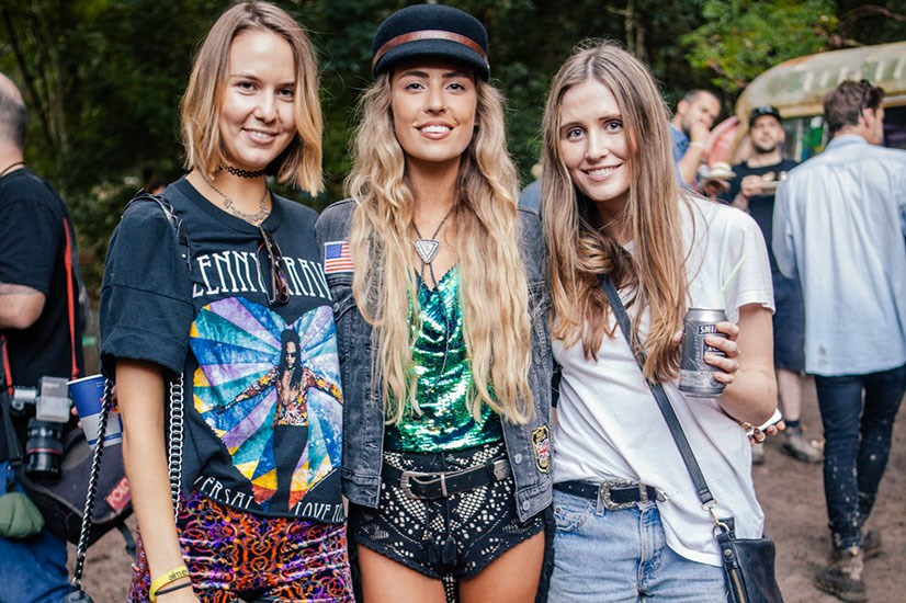 Cute girls plus colourful tees and denim shorts, just add mud.