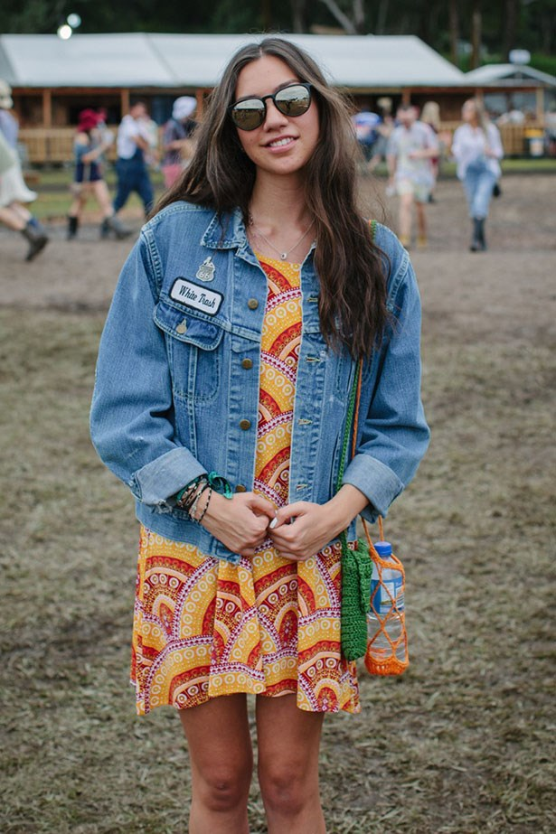 Customised denim jacket and sweet sundresses.