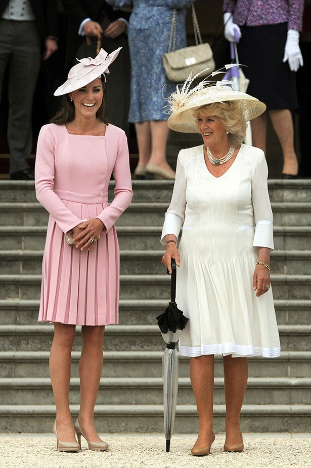 <p>On another occasion Kate Middleton wore this pastel pink Alexander McQueen dress more than once.</p>