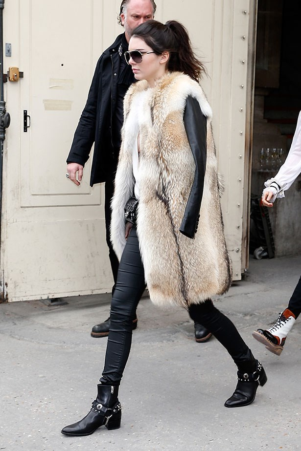 <p>This time wearing them both with some serious fur.</p>