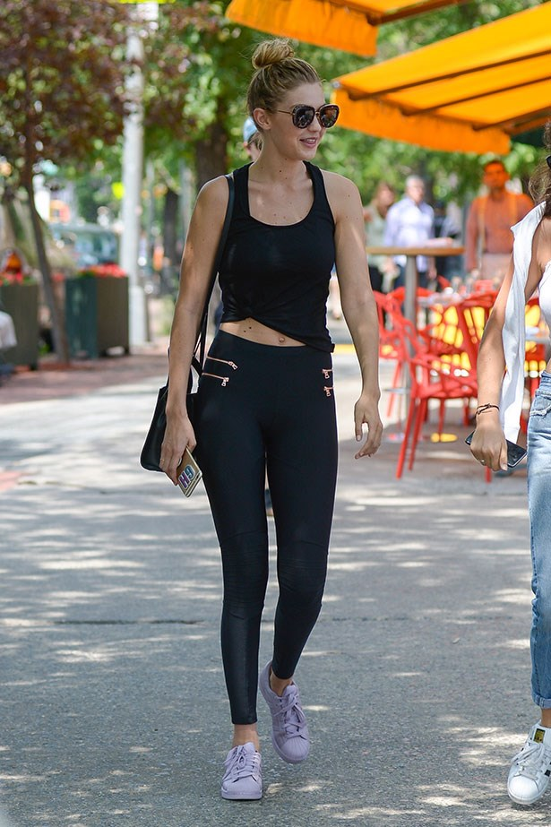 <p>And styles them with gym clothes the next day, ingenious!</p>