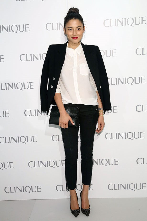 <p>Like the rest of us, Jessica Gomes swears by her structured blazer.</p>