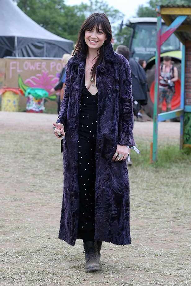 Daisy Lowe goes 70s at Glastonbury, I mean, where else right?