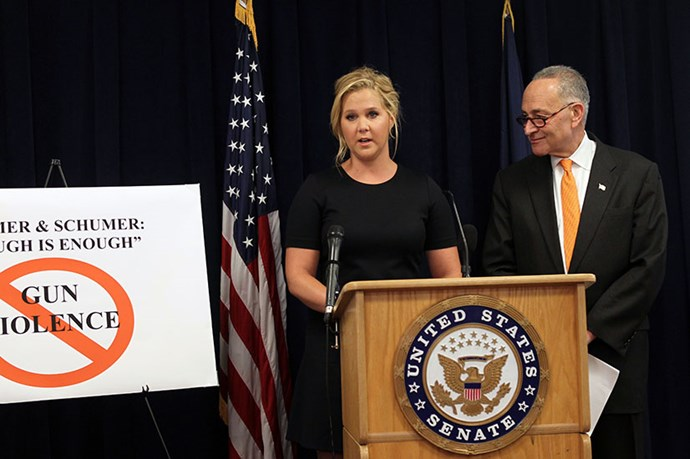Amy Schumer wants to tackle gun reform in America