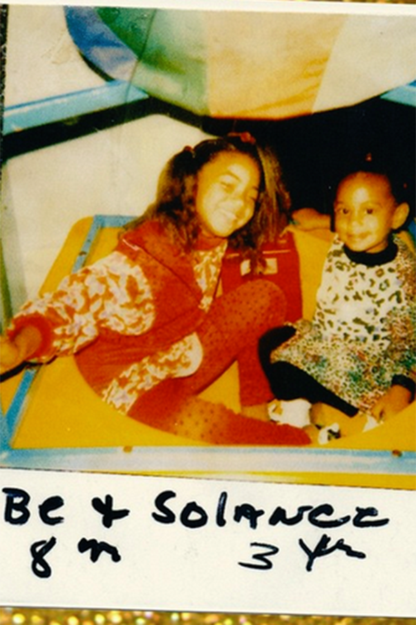 Beyonce is not just queen of our hearts, but also queen of #tbt. She recently shared this cute snap of her little sis Solange on Solange's birthday. Outfit game: strong.