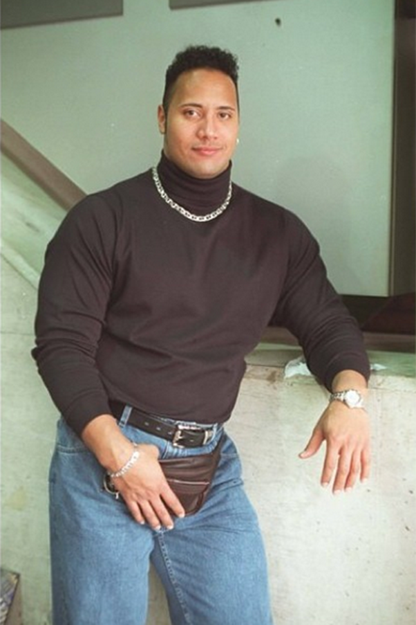 """If you google """"the 90s"""" this is what should come up. This glorious photo of Dwayne The Rock Johnson. That bum bag! Image: Instagram/@therock"""