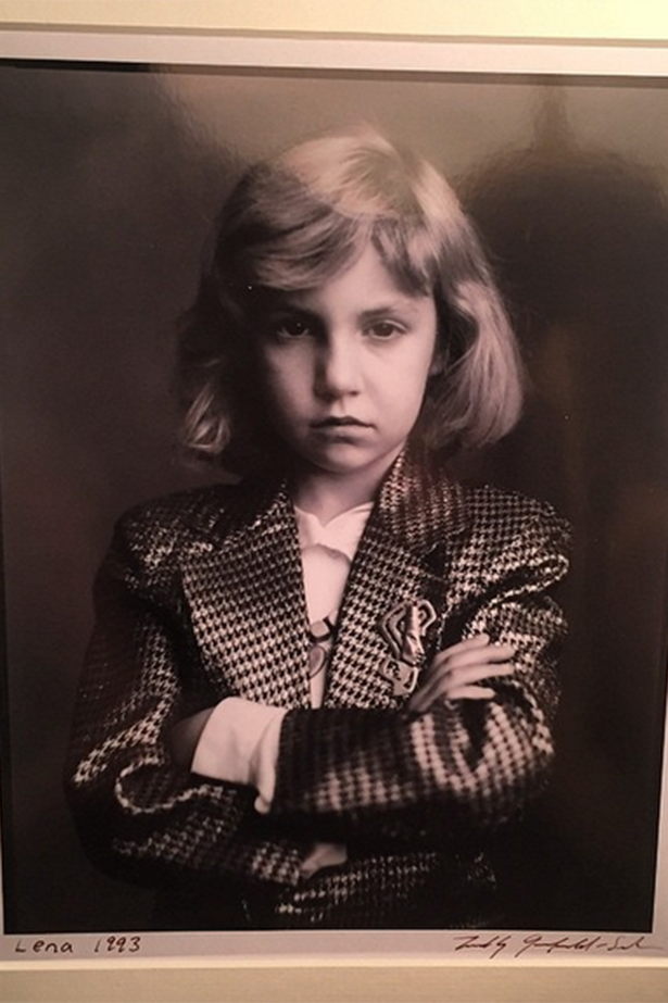 Lena Dunham, always destined to be a girl boss. Lena Dunham shared this portrait of her from 1993 and it's so bad ass and cool. Image via Instagram/@lenadunham