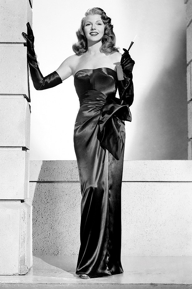 Rita Hayworth played the ultimate femme fatale in Gilda. The way she poured herself into that slinky dress, the cigarette lighter - G L A M O U R.