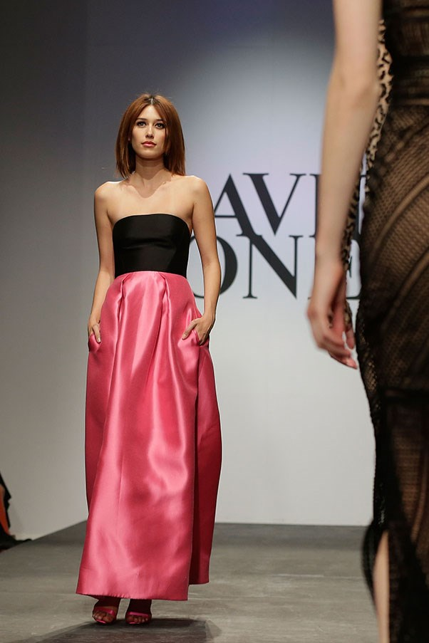 A model showcases designs by Rebecca Vallance on the runway at the David Jones Spring/Summer 2015 Fashion Launch at David Jones Elizabeth Street Store on August 5, 2015 in Sydney, Australia.  (Photo by Mark Metcalfe/Getty Images for David Jones)