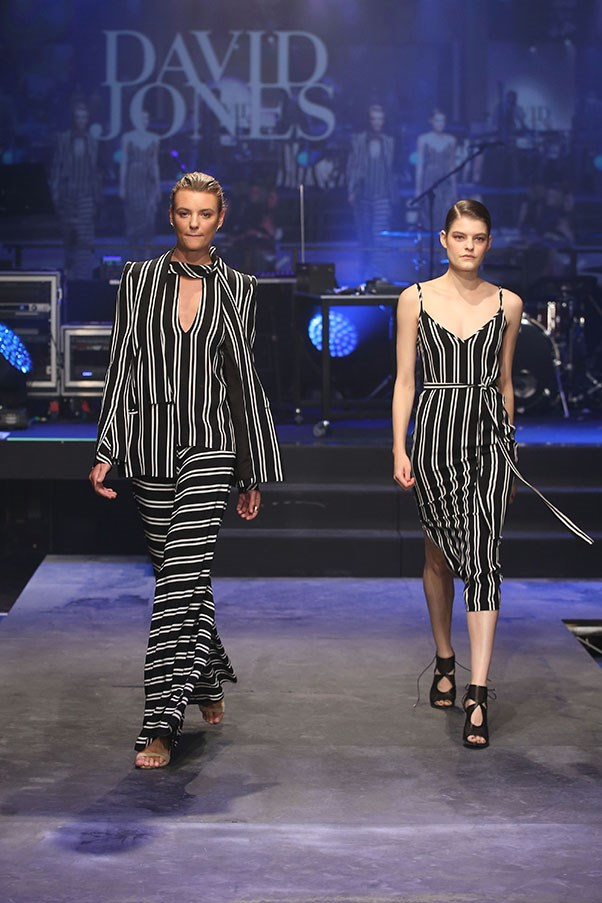 A model showcases designs by Bec & Bridge on the runway at the David Jones Spring/Summer 2015 Fashion Launch at David Jones Elizabeth Street Store on August 5, 2015 in Sydney, Australia.  (Photo by Brendon Thorne/Getty Images for David Jones)