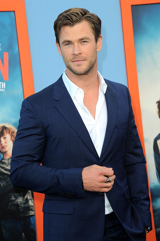 Swoon. Chris Hemsworth. A man that can fix your car and then scrub up for a black tie do.