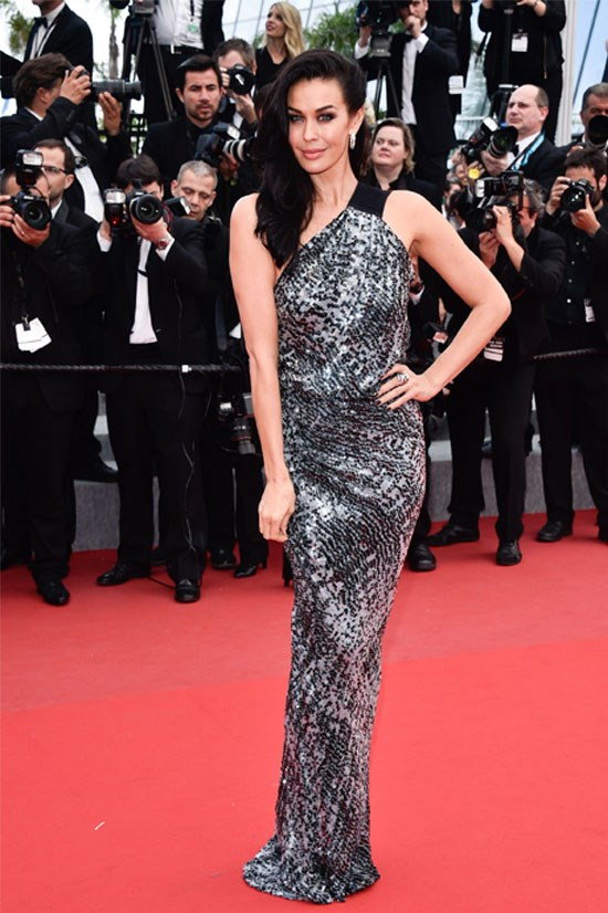 Megan Gale at the Cannes Film Festival this year.