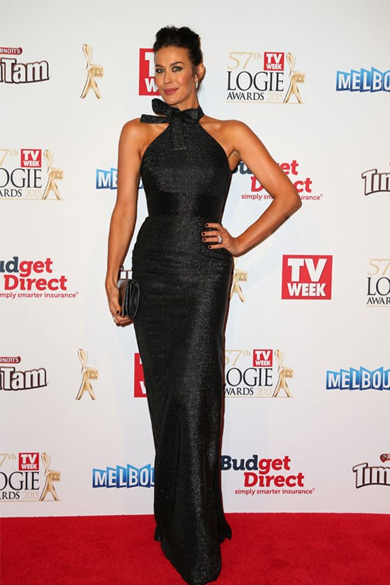 Megan Gale at the 2015 Logie Awards.
