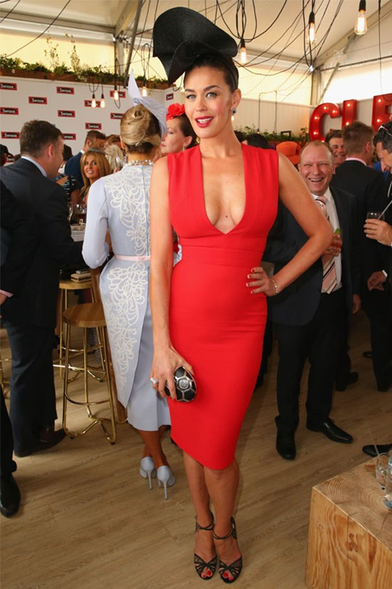 Megan Gale at the Melbourne Cup last year.