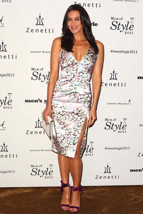 Megan Gale at Men's Style 10th Birthday, 2013.