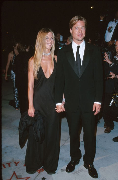 MARCH 26, 2000 Sleek, tan, and blonde with Brad Pitt.
