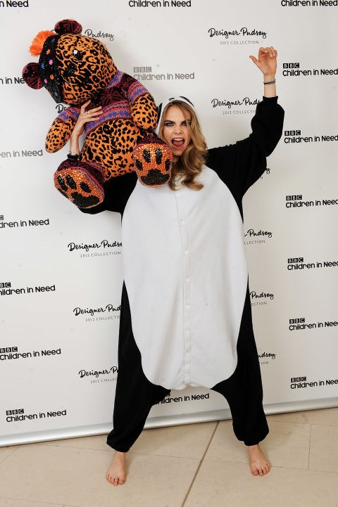 CARA DELEVINGNE Okay, she's not reacting to any animals, but this photo just feels very important.